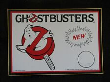 "1980'S Vintage/Original 8"" X 6"" ""Ghostbusters"" Columbia Pictures Sign/Sticker Nm"