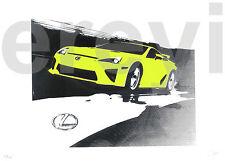 LEXUS LFA HIT+RUN SILKSCREEN PRINT Rare Exclusive Promotional Art 2009 SEMA Day2