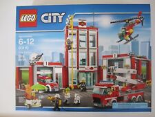 60110 LEGO City Fire Station 919 Pieces Factory Sealed New in Box