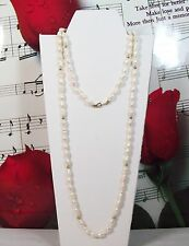 "Fresh Water Pearls With 14K Gold Clasp Necklace, 28"". FWPK001"