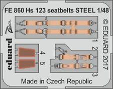 Eduard Zoom FE860 1/48 Henschel Hs-123A-1/Hs-123B-1 seatbelts STEEL Gas Patch