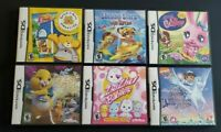 6 Nintendo DS Games Complete Dsl 3DS ~ Kids Lot ~ LITTLEST PET SHOP ZHU DORA +++