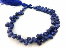 """178 Cts AAA Natural Lapis Lazuli Tear Drop Faceted 5x9-6x10mm, 9"""" Strand Beads"""