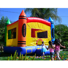 JumpOrange 13'X13' Crayon Party House Inflatable Bounce House Free Shipping