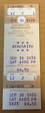 1978 AC/DC AEROSMITH UNI. NOTRE DAME CONCERT TICKET STUB POWERAGE TOUR BON SCOTT