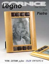 Cornice portafoto cm15*20 in legno con pietre