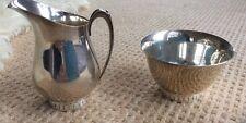 Wallace Sterling Modernique Cream & Sugar
