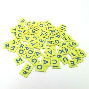 1999 Scrabble Jr.  Game Replacement Part Pieces - Complete Set 101 Letter Tiles