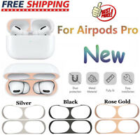 For Apple AirPods Pro Charging Case Metal Dust-proof Guard Film Protective Cover
