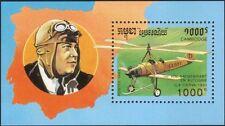 Cambodia 1993 Cierva/Pilots/Autogyro/Aviation/Aircraft/Transport 1v m/s (b7977)
