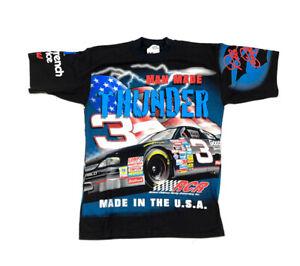 VTG 1998 Thunder Dale Earnhardt All Over Print T-Shirt NASCAR Chase USA Made M