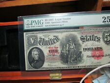 1907 $5.00 LEGAL TENDER  WOODCHOPPER PMG  VERY FINE 25  Fr #91  NICE 4 THE GRADE