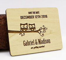Rustic Wedding Save the Date Wooden Magnet 20 Custom Engraved Wooden-QgB