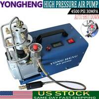 YONG HENG 4500PSI High Pressure 30MPa Air Compressor Pump PCP Electric Auto-Stop