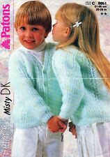 """~Patons Knitting Pattern For Toddler's Lacy Fisherman's Rib Cardigan ~ 20"""" ~ 26"""""""