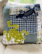 Throw Pillow Frog And Salamander Frolics Kids Collection 100% Cotton