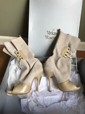 Vivienne Westwood Sky Scrapper Beige Open Toe Boots With Box size 39, $1800