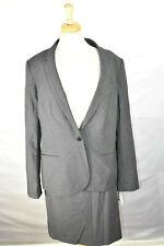 CALVIN KLEIN Womens Skirt Suit Set 2 Pcs, Size 14 - 16, Charcoal Gray, NwT $250