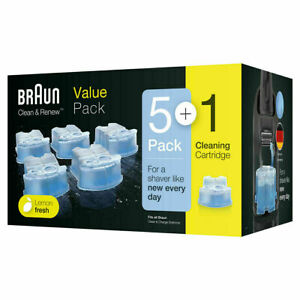 Braun CCR3 Clean and Renew Mens Shaver Hygienic Cleaning Refill Cartridge 6 Pack