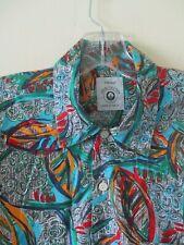 ST MICHAEL SHIRT Vintage Retro 1990s Hawaiian TURQUOISE  Fresh Prince M&S SZ M