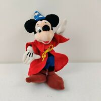 "Disneyland Disney World Fantasia Mickey Mouse Plush Wizard 14"" Soft Stuffed Toy"
