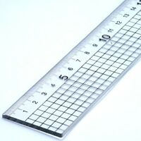 30cm Acrylic Rule Ruler With Steel Cutting Edge Jakar Metal Side Cut 5mm Squares