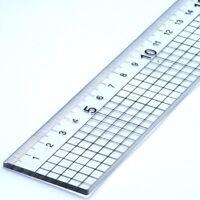 30cm Acrílico Regla con Acero Corte Borde Jakar Metal Lado Corte 5mm Cuadrados