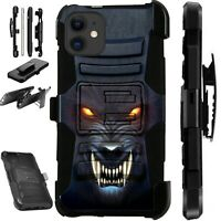 Luxguard For Apple iPhone 12/Pro Max/Mini/ Phone Case Holster ANGRY WEREWOLF