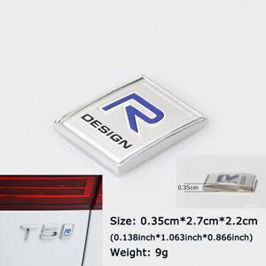 For Volvo R design Logo 3D Metal Emblem Badge Rear Car Stickers V40 C30 S60 XC60
