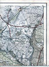 Petershagen Casekow Kunow 1921 Teilkarte/Ln Woltersdorf Groß Pinnow Hohenselchow