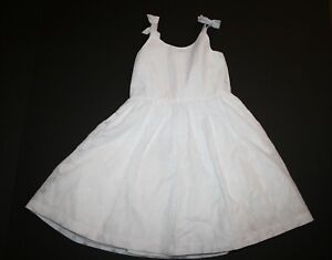New Gymboree Girls 6 year Holday Easter White Floral Texture Dress Sleeveless