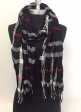 NEW Women Long Soft Fringe Scarf Fashion Crinkle Cotton Blend Wrap Shawl Black
