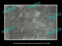 OLD LARGE HISTORIC PHOTO OIRSCHOT NETHERLANDS HOLLAND TOWN AERIAL VIEW c1940 1