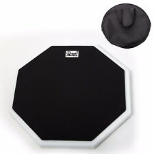 PAITITI 10 Inch Silent Portable Practice Drum Pad OctagonalShape w Carrying Bag