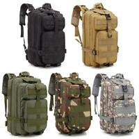 30L Waterproof Military Tactical Backpack Rucksack Bag Camping Outdoor Hiking US