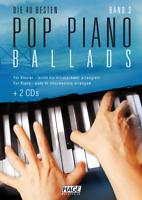 Pop Piano Ballads 3 (mit 2 CDs) - für Klavier - leicht bis mittelschwer