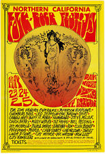 "California Folk-Rock Festival Poster Jimi Hendrix, Led Zeppelin 13 x 19"" Photo"