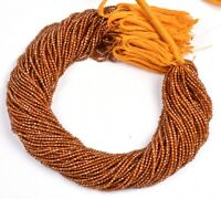 """13"""" Strand Natural Hessonite Faceted Rondelle Micro Cut Gemstone Beads 2 mm"""