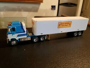 Custom 1:64 Waterslide decals Whiteline Fever Blue Mule & Red River Trailer DCP
