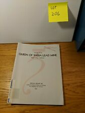 Queen Of Sheba Lead Mine Death Valley, California Special Report 88 W/Maps 1965