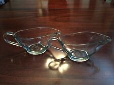 Pair (2) Anchor Hocking Gravy Boats Glass 10-12 oz. Model # 1043 Microwave Safe!