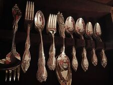 Wm A Rogers Old South silverplate set for 10 +soups iced tea 7 serv pc EXCELLENT