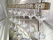 Crystal Glasses Set of 6 Wine Champagne  8 oz Platinum Versace Design  Russian