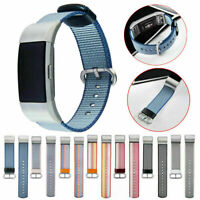 Woven Nylon Fabric Armband Uhrenarmband Wirst Strap Band für Fitbit Charge 2 Uhr