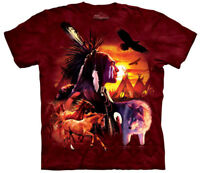 Native American Wilderness Collage Adult T-Shirt Tee