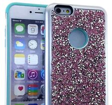 For iPhone 6+ / 6S+ Plus - PINK Hybrid Armor Bling Case Diamond Rhinestone Stud