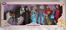 New Disney Store Sleeping Beauty Aurora Phillip Maleficent Deluxe Doll Gift Set