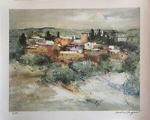 Luciano PASQUINI   litografia a colori Inverno 50x40 firmata numerata  su 70 ex