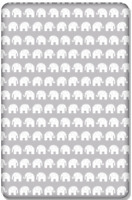 BABY FITTED COT BED SHEET PRINTED 100% COTTON MATTRESS 140x70cm Elephants Grey