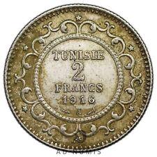 2 francs 1916 A Paris Tunisie - Argent